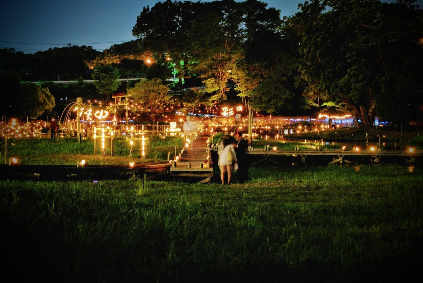 5月28日(土)は、中井町厳島湿生公園の『竹灯篭の夕べ』へ行こう!