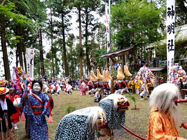 山北町共和地区に伝わる民俗芸能「お峯入り」5年ぶりに公演!