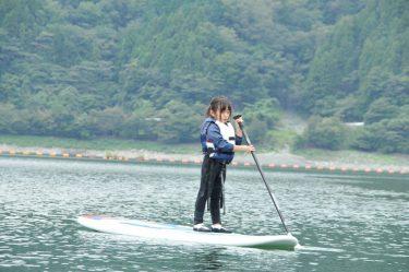 秋風心地よい丹沢湖! 親子でSUPに初挑戦してきました